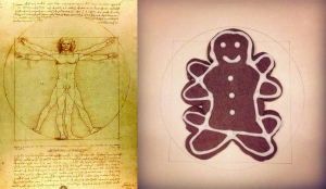 Vitruvian Gingerbread Man