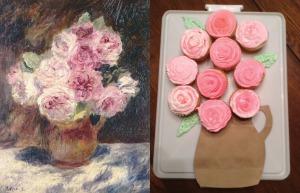 Renoir Rose Cupcakes