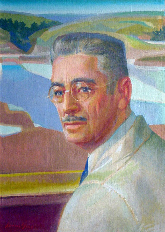 Portrait of Oscar B. Jacobson   Leonard Good blog